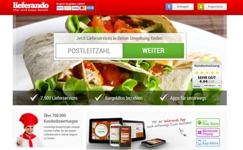 Lieferando - Startseite