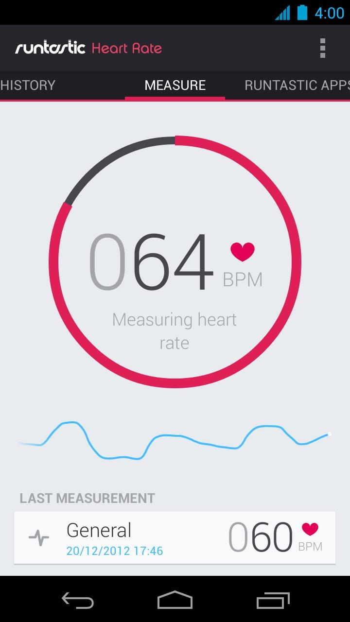 Runtastic App - Herzschlag | Quelle: Runtastic