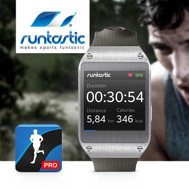 Dei Runtastic App ist mit der Samsung Smartwatch GALAXY Gear kompatibel| Quelle: Runtastic
