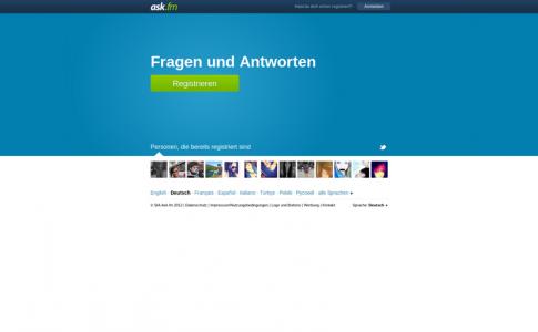 ask.fm Startseite