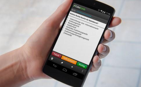 Mit der CoboCards App bequem überall lernen.
