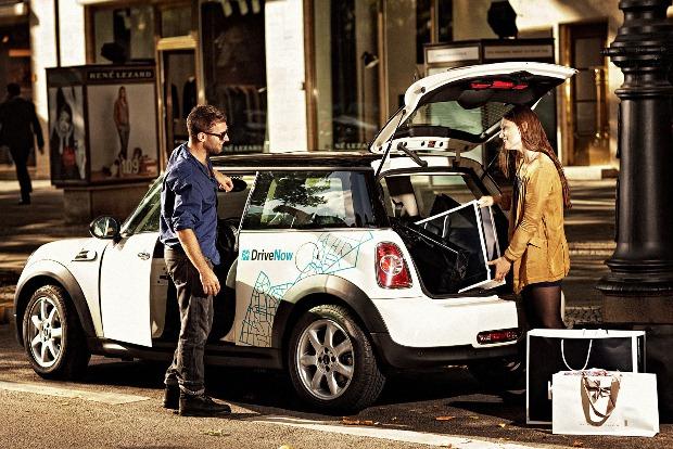 """Ein Mini von DriveNow im """"Einsatz"""" (Bild: DriveNow)"""