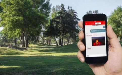 Mit FireChat ohne Internet- oder Mobilfunkverbindung mit anderen Nutzern in der näheren Umgebung kommunizieren | Quelle: Placeit
