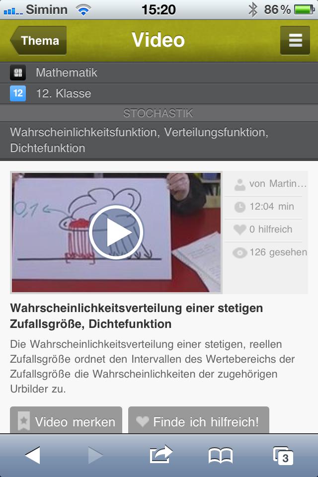 Sofatutor.com - Videos mit der App schauen