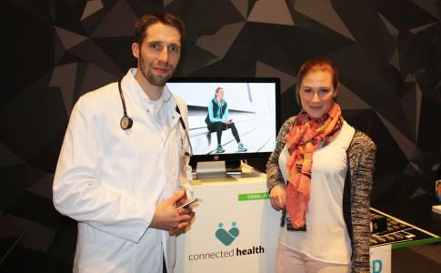 Johannes Jacubeit Gründer von Connected Health wird von Vanessa Opladen interviewt.