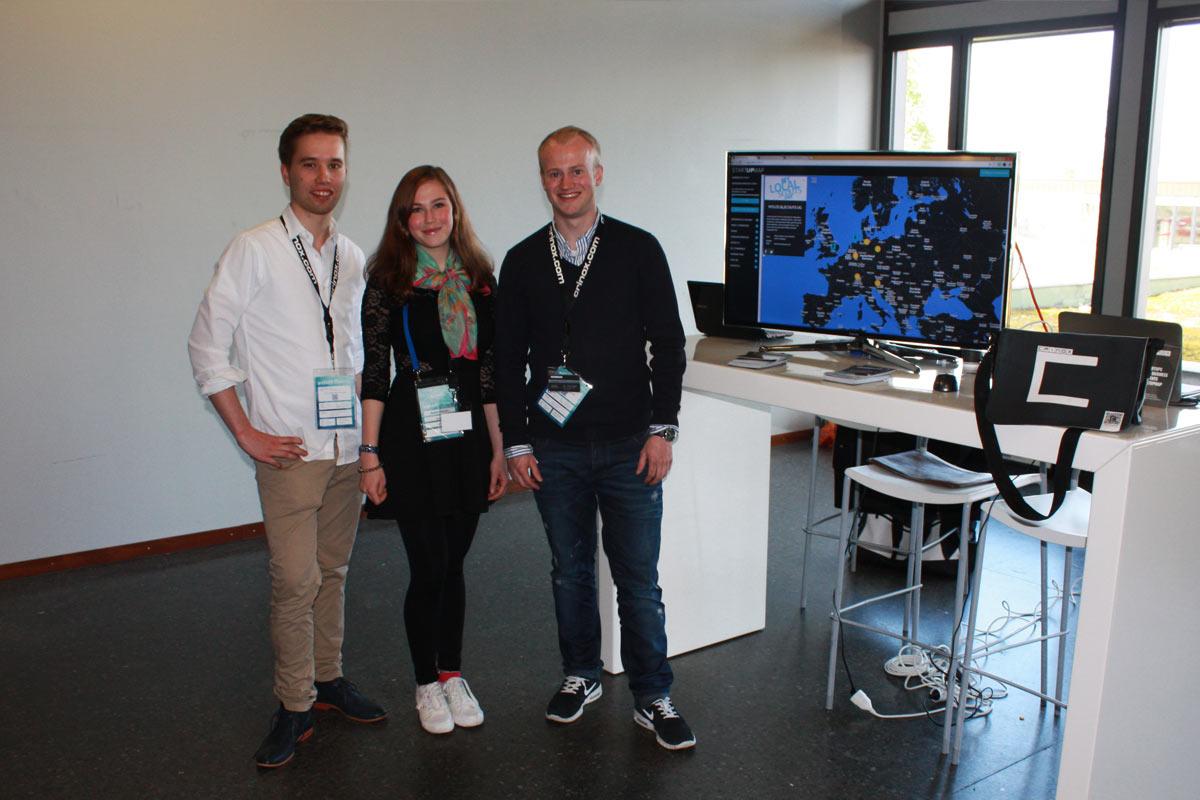 Joris Clement, Vanessa Opladen und Christoph David Schneider präsentierten die Startupmap.