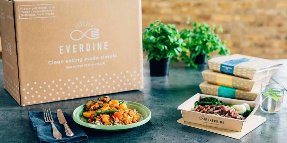 Mit Everdine gefrorenes und gesundes Essen nach Hause geliefert bekommen