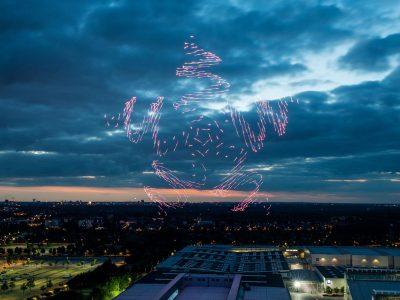 d!campus - Erlebnis und Emotion unter freiem Himmel, Intel Drone light Show, Freigelände